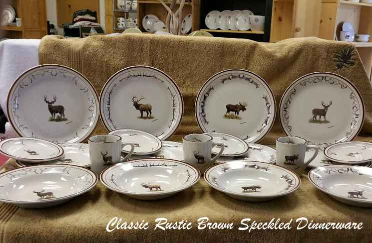 Classic Rustic Brown Speckled Dinnerware