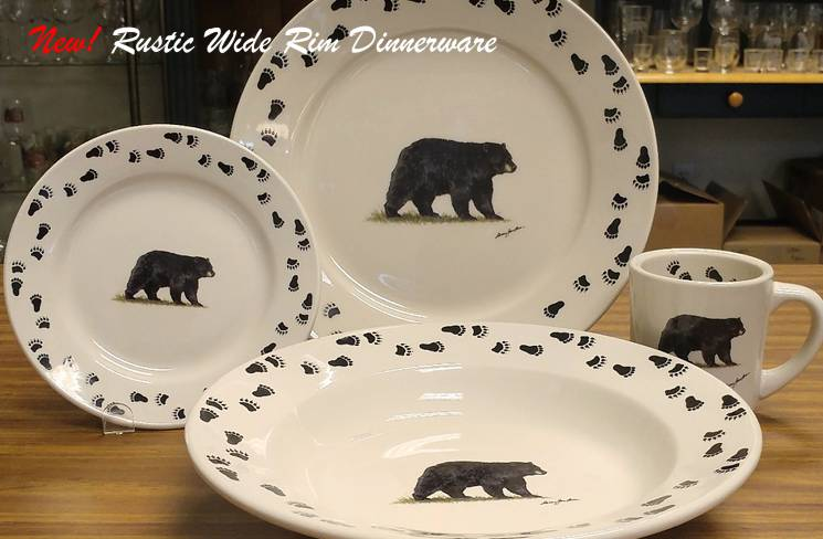 NEW! Rustic Wide Rim Dinnerware